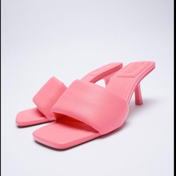 Zara Heeled Quilted Sandals